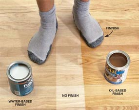 apply polyurethane on hardwood floors